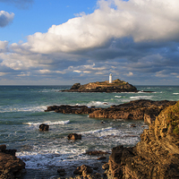 Buy canvas prints of Godrevy Lighthouse by Kevin Britland