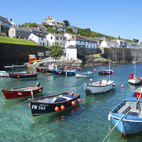 Buy canvas prints of Cornish Harbour by Kevin Britland