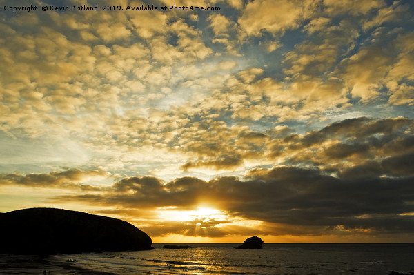 cornish sunset Framed Mounted Print by Kevin Britland