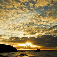 Buy canvas prints of cornish sunset by Kevin Britland