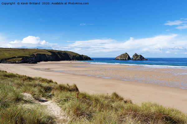 holywell bay cornwall Framed Mounted Print by Kevin Britland