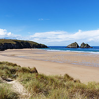 Buy canvas prints of holywell bay cornwall by Kevin Britland