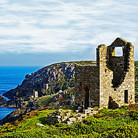 Buy canvas prints of old cornish tin mine by Kevin Britland