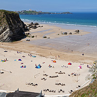 Buy canvas prints of newquay cornwall by Kevin Britland