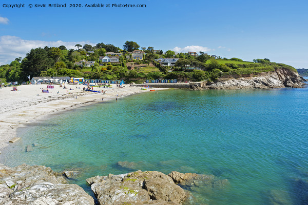 swanpool beach falmouth cornwall Framed Mounted Print by Kevin Britland