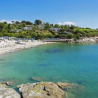 Buy canvas prints of swanpool beach falmouth cornwall by Kevin Britland