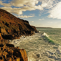 Buy canvas prints of rugged cornish coastline by Kevin Britland