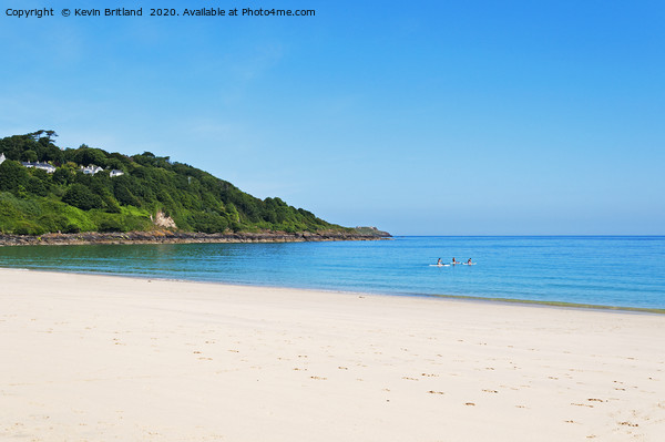 carbis bay st ives cornwall Print by Kevin Britland