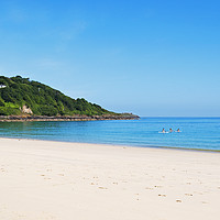 Buy canvas prints of carbis bay st ives cornwall by Kevin Britland