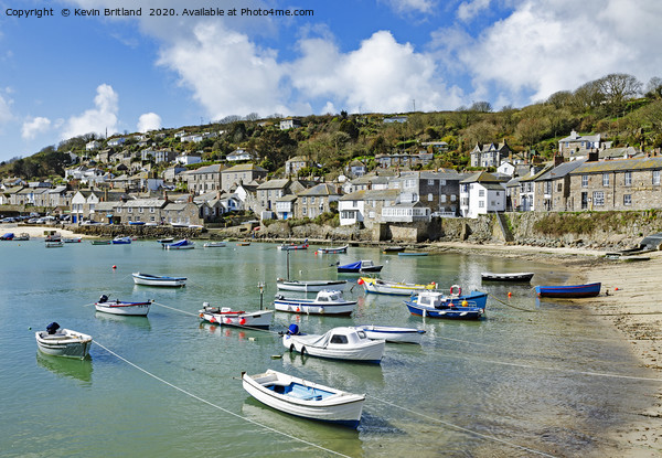 mousehole cornwall Print by Kevin Britland