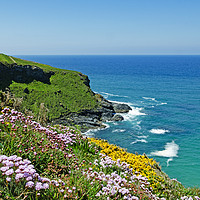 Buy canvas prints of North Cornwall coast by Kevin Britland