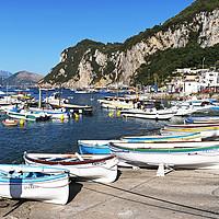 Buy canvas prints of marina grande capri by Kevin Britland