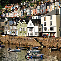 Buy canvas prints of bayards cove in the historic town of dartmouth by Kevin Britland