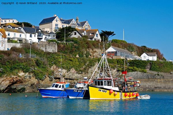 Newquay Habour Cornwall Canvas Print by Kevin Britland