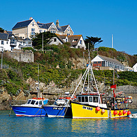 Buy canvas prints of Newquay Habour Cornwall by Kevin Britland
