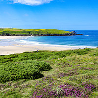 Buy canvas prints of crantock beach cornwall by Kevin Britland