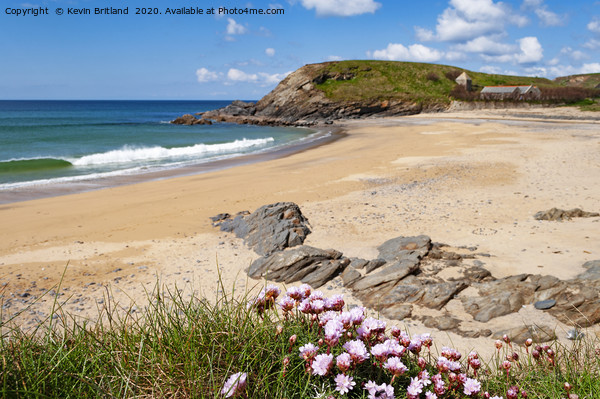 Cornish beach Framed Print by Kevin Britland