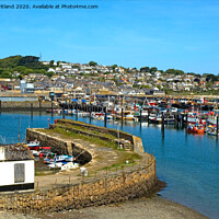 Buy canvas prints of newlyn harbour cornwall by Kevin Britland
