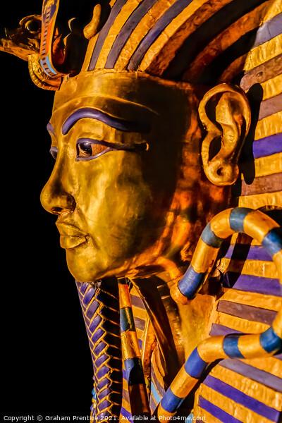 Funerary Mask of Tutankhamun Print by Graham Prentice