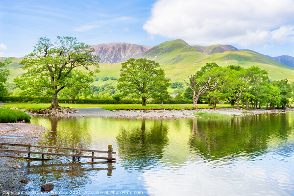 Buttermere Lake and Fell Print by Graham Prentice
