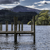 Buy canvas prints of Derwentwater Lake  by Tony Johnson