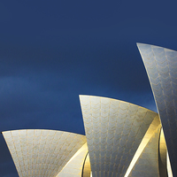 Buy canvas prints of Sydney Opera House sails by Sheila  Smart