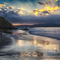 Buy canvas prints of Sunset over Byron Bay by Sheila  Smart