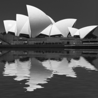 Buy canvas prints of  Sydney Opera House abstract by Sheila  Smart