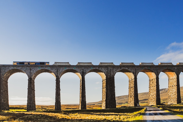 Freight Train In The Yorkshire Dales Canvas print by LensLight Traveler