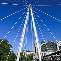 Buy canvas prints of Hungerford Bridge, London by Diane Griffiths