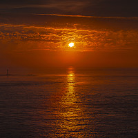 Buy canvas prints of Lands End Sunset by Diane Griffiths