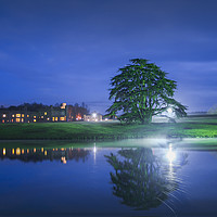 Buy canvas prints of Leeds Castle at Night by Diane Griffiths