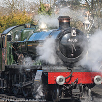Buy canvas prints of Steam Train at Bridgnorth Steam Gala by Diane Griffiths