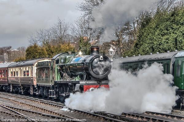 Steam Train at Bridgnorth Steam Gala Framed Print by Diane Griffiths