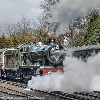 Buy canvas prints of Steam Train at Bridgnorth Steam Gala by Diane Griffiths