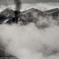 Buy canvas prints of Steam Train at Chasewater by Diane Griffiths