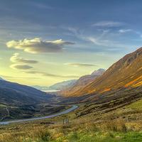 Buy canvas prints of  Sunset in Glen Docherty by Robert Murray