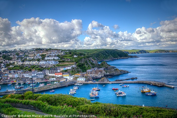 Megavissey town and harbour, Cornwall. Canvas Print by Robert Murray
