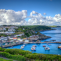 Buy canvas prints of Megavissey town and harbour, Cornwall. by Robert Murray