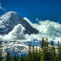 Buy canvas prints of North Face of The Eiger by Robert Murray