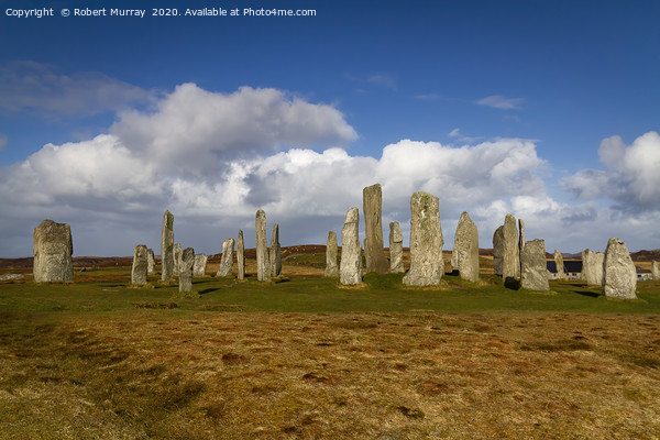 Standing Stones of Callanish Framed Mounted Print by Robert Murray