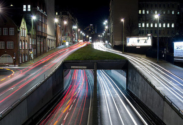 Queensway Tunnel at Night Print by Andy Heap