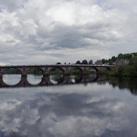 Buy canvas prints of Reflections in the Tay by Andy Heap