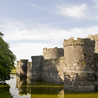 Buy canvas prints of  Beaumaris Castle, Anglesey by Andy Heap