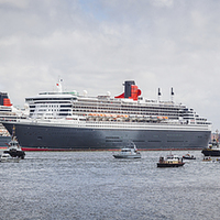 Buy canvas prints of  Three Queens in the Mersey by Jason Wells