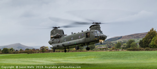 CH-47-HC.6A Chinook helicopter Canvas print by Jason Wells