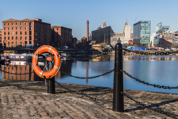 Life ring by Salthouse Dock Canvas print by Jason Wells