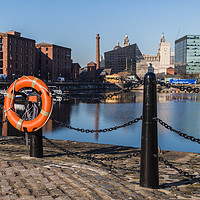 Buy canvas prints of Life ring by Salthouse Dock by Jason Wells