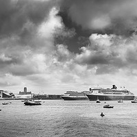 Buy canvas prints of Three Queens in monochrome by Jason Wells