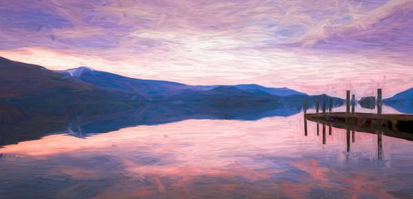Derwent Water at dusk Canvas print by Jason Wells